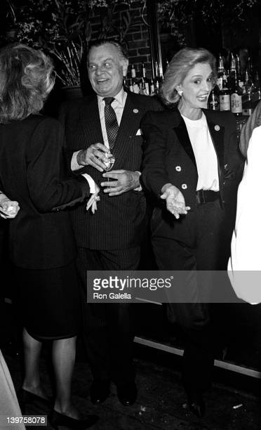 Designers Bill Blass and Carolina Herrera attend Fete de Famille III Benefit for AIDS Research on September 27 1988 at Mortimer's Restaurant in New...