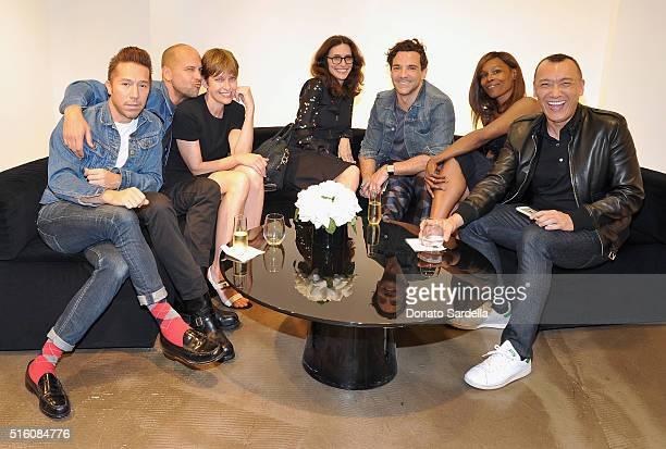 Designers Brian Wolk Claude Morais Jenny Brunt host Eliezabeth Stewart George Kotsiopoulos Stephanie Armstrong and Joe Zee attend Saks Fifth Avenue...