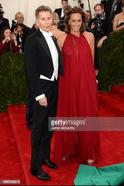 Designers Calvin Klein and Donna Karan attends the 'Charles James Beyond Fashion' Costume Institute Gala at the Metropolitan Museum of Art on May 5...