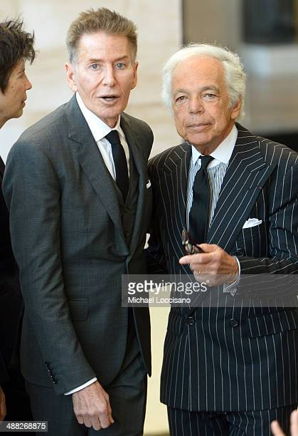 Designers Calvin Klein and Ralph Lauren attend the Anna Wintour Costume Center Grand Opening at the Metropolitan Museum of Art on May 5 2014 in New...