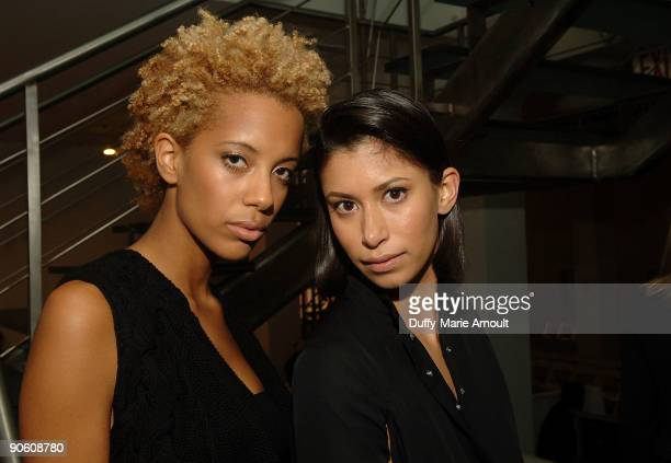 Designers Carly Chushnie and Michelle Ochs of Cushnie Et Ochs attend Cushnie Et Ochs during MercedesBenz Fashion Week Spring 2010 at Chelsea Art...