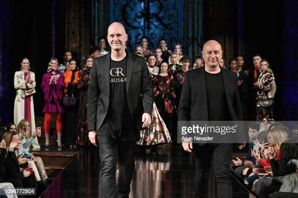 Designers Charles and Ron walk the runway for CHARLES AND RON At New York Fashion Week Powered By Art Hearts Fashion NYFW at The Angel Orensanz...