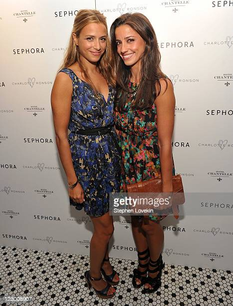 Designers Charlotte Ronson and Shoshanna Gruss attend the Charlotte Ronson Sephora New York dinner at Hotel Chantelle on August 29 2011 in New York...