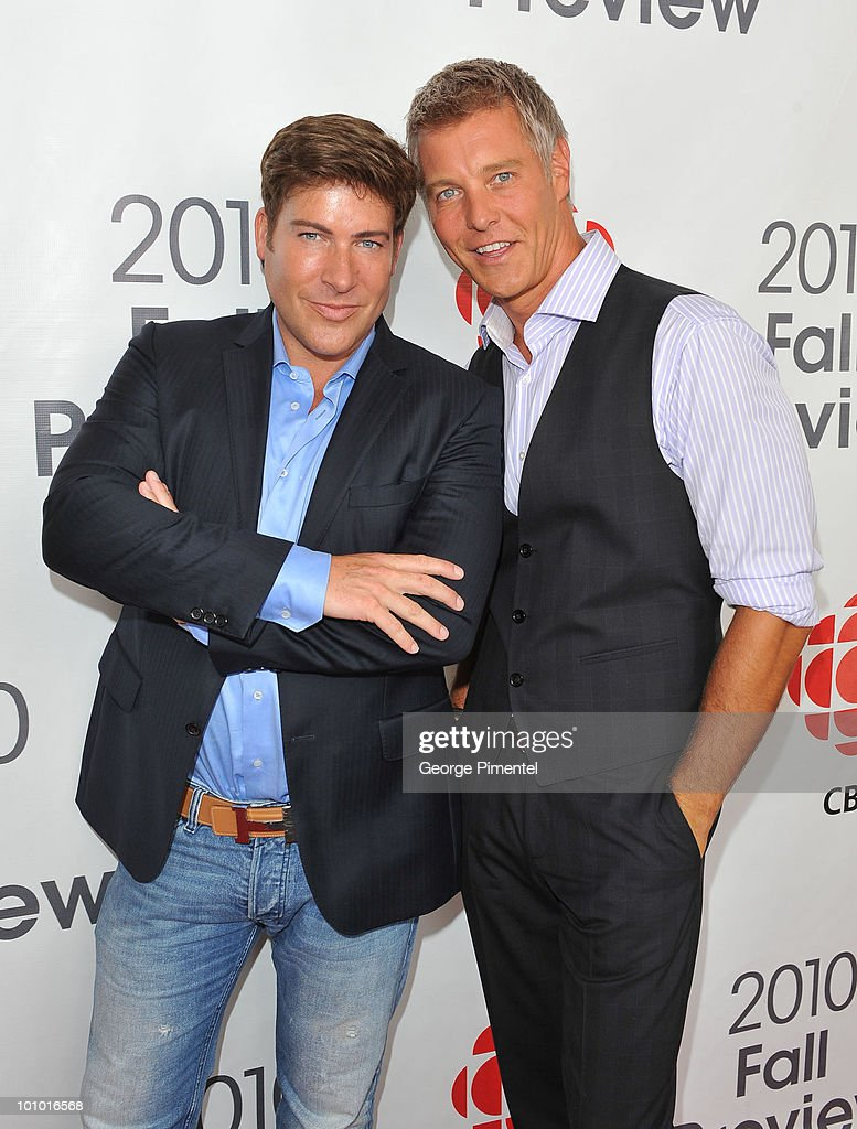 Designers Chris Hyndman and Steven Sabados attend CBC Television 2010 Fall Preview at the CBC Broadcast Centre on May 27, 2010 in Toronto, Canada.