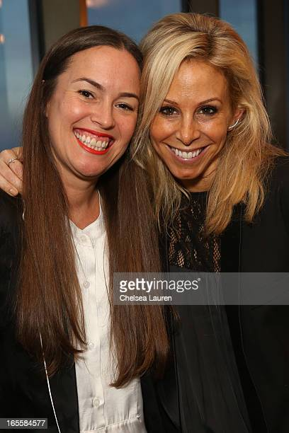 Designers Christie Smythe and Andrea Lenczner attend the SMYTHE Spring 2013 Dinner Hosted By Designers Andrea Lenczner And Christie Smythe on April 4...