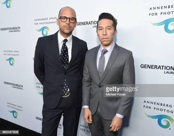 Designers Claude Morais and Brian Wolk at GENERATION WEALTH By Lauren Greenfield at Annenberg Space For Photography on April 6 2017 in Century City...