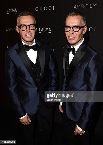 Designers Dan Caten and Dean Caten attend the 2014 LACMA Art Film Gala honoring Barbara Kruger and Quentin Tarantino presented by Gucci at LACMA on...
