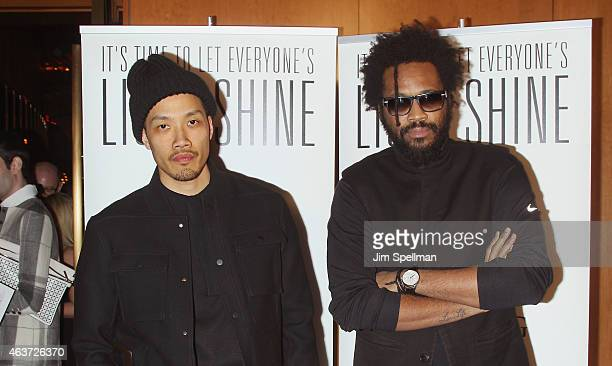 Designers DaoYi Chow and Maxwell Osborne attend Reimagine Learning at The Top of The Standard on February 17 2015 in New York City
