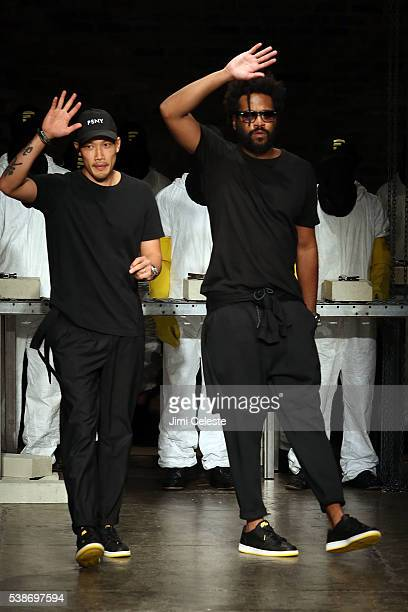 Designers DaoYi Chow and Maxwell Osborne Public School Women's and Men's Spring 2017 Runway Show at Cedar Lake on June 7 2016 in New York City