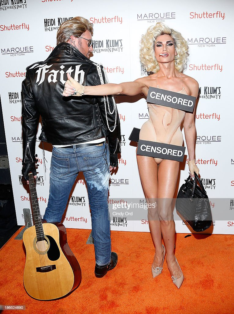 Designers David Blond and Phillip Blond attend Shutterfly Presents Heidi Klum's 14th Annual Halloween Party sponsored by SVEDKA Vodka and smartwater at Marquee on October 31, 2013 in New York City.