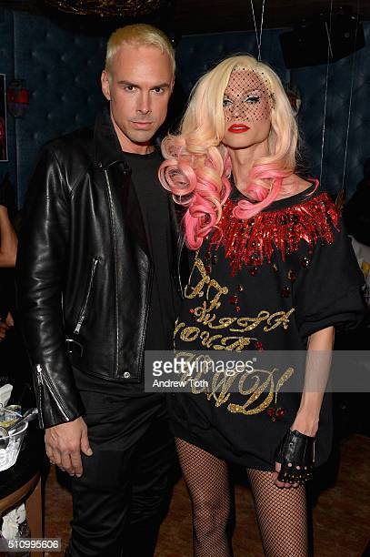 Designers David Blond and Phillipe Blond attend The Blonds fashion week party at TAO Downtown on February 17 2016 in New York City