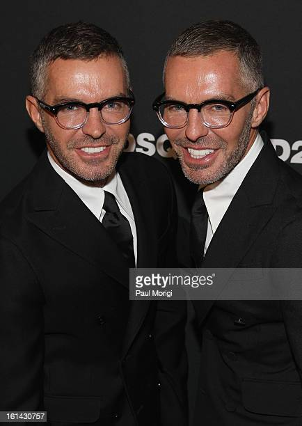 Designers Dean Caten and Dan Caten arrive to DSquared2 and Interview Magazine's premiere screening of Behind The Mirror Spring Summer 2013 Campaign...