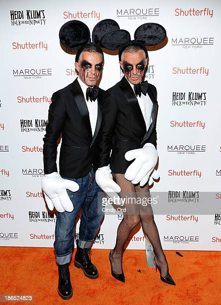 Designers Dean Caten and Dan Caten attend Shutterfly Presents Heidi Klum's 14th Annual Halloween Party sponsored by SVEDKA Vodka and smartwater at...