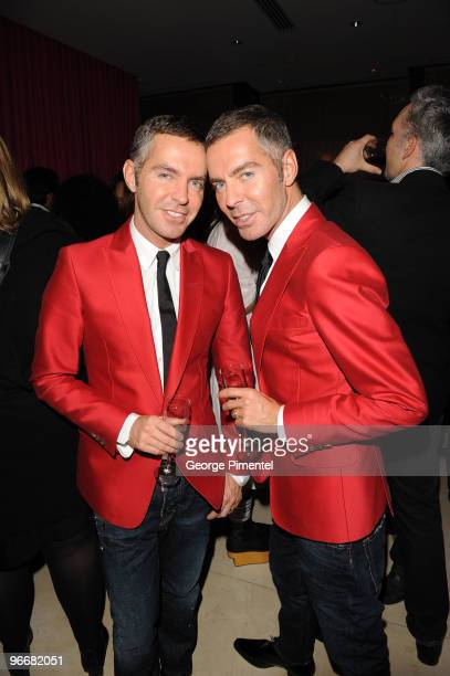 Designers Dean Caten and Dan Caten host with MAC Cosmetics a celebration for the opening of the 2010 Winter Olympic Games at the Opus Hotel on...