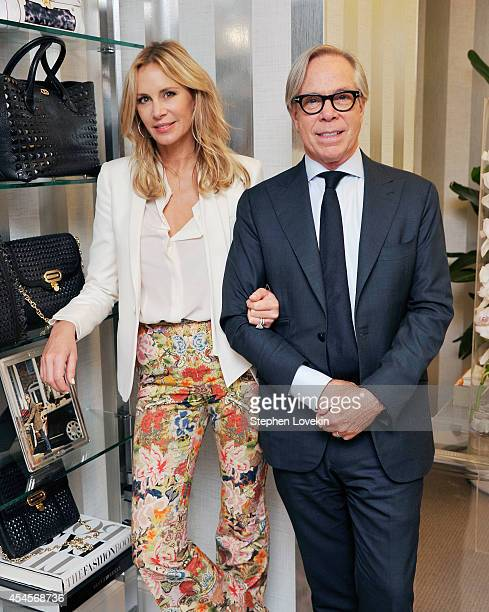 Designers Dee Hilfiger and Tommy Hilfiger attend the Dee Ocleppo by Dee Hilfiger presentation during MercedesBenz Fahion Week Spring 2015 on...