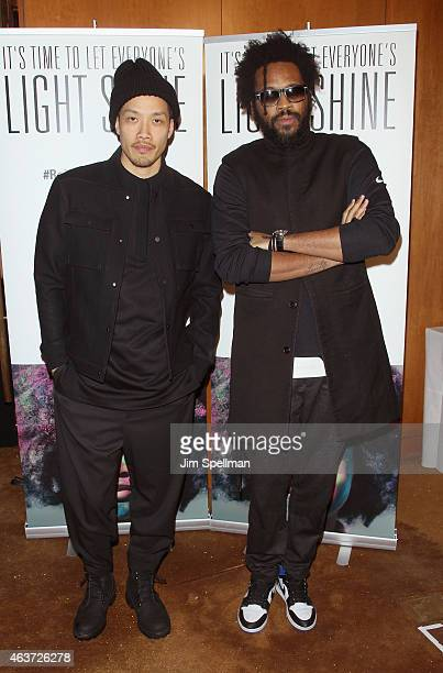 Designers Designers DaoYi Chow and Maxwell Osborne attend Reimagine Learning at The Top of The Standard on February 17 2015 in New York City
