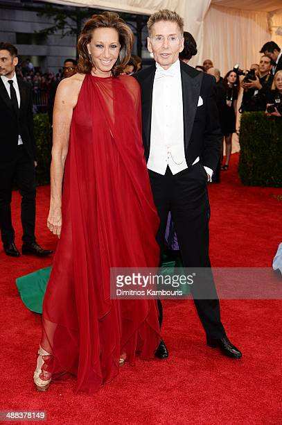 Designers Donna Karan and Calvin Klein attend the Charles James Beyond Fashion Costume Institute Gala at the Metropolitan Museum of Art on May 5 2014...