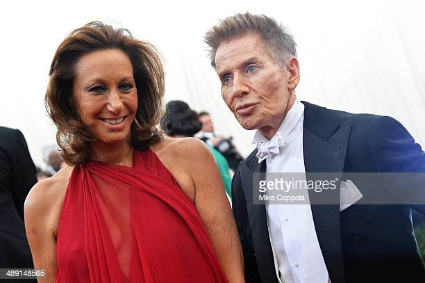 Designers Donna Karan and Calvin Klein attend the 'Charles James Beyond Fashion' Costume Institute Gala at the Metropolitan Museum of Art on May 5...