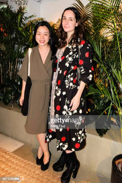 Designers Edeline Lee and Serafina Sama of Isa Arfen attend the British Fashion Council Cocktail Reception to celebrate British Fashion Design...