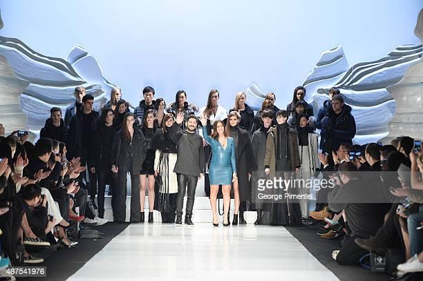 Designers Elisa Dahan and Eran Elfassy present their Mackage fall 2015 collection during World MasterCard Fashion Week Fall 2015 at David Pecaut...