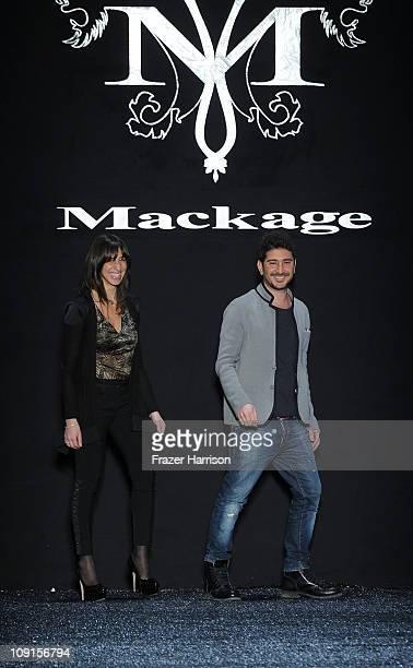 Designers Elisa Dahan and Eran Elfassy walk on the runway at the Mackage Fall 2011 fashion show during MercedesBenz Fashion Week at The Studio at...