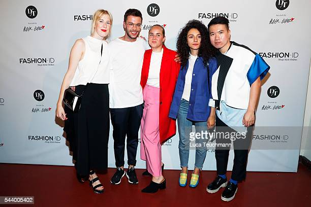 Designers Elisa Kley David Kaelble winner Edda Gimnes Ancuta Sarca and Marc Morris Mok attend the 'Designer for Tomorrow' by Peek Cloppenburg and...