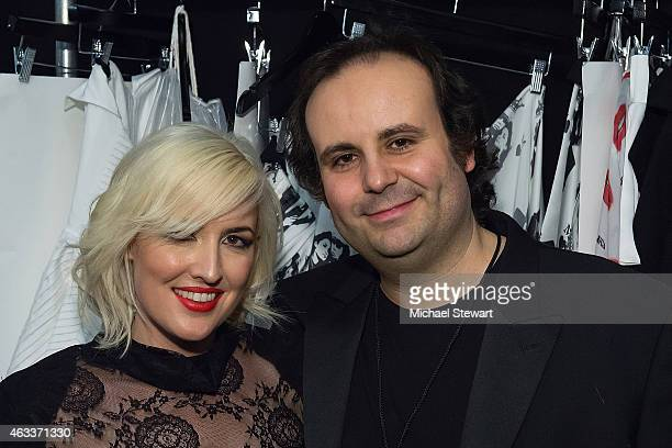 Designers Estel Day and Mark Tango attend the Mark And Estel show during Mercedes-Benz Fashion Week Fall 2015 at The Salon at Lincoln Center on...