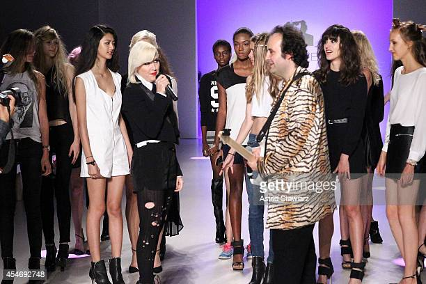 Designers Estel Day and Mark Tango perform at the Mark And Estel fashion show during Mercedes-Benz Fashion Week Spring 2015 at The Salon at Lincoln...