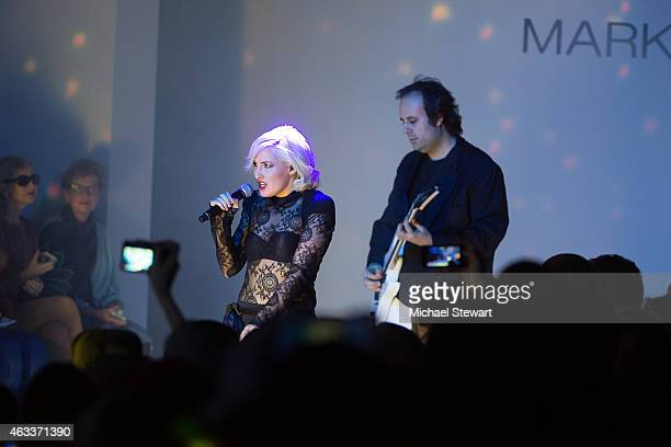 Designers Estel Day and Mark Tango perform during the Mark And Estel show during Mercedes-Benz Fashion Week Fall 2015 at The Salon at Lincoln Center...