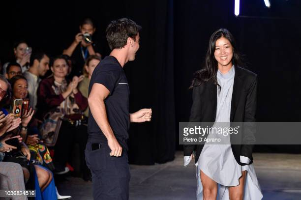 Designers Fernando Garcia and Laura Kim walk the runway at the Monse Spring/Summer 2019 fashion show during New York Fashion Week on September 7 2018...