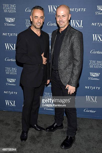 Designers Francisco Costa and Italo Zucchelli attend the WSJ. Magazine 2015 Innovator Awards at the Museum of Modern Art on November 4, 2015 in New...