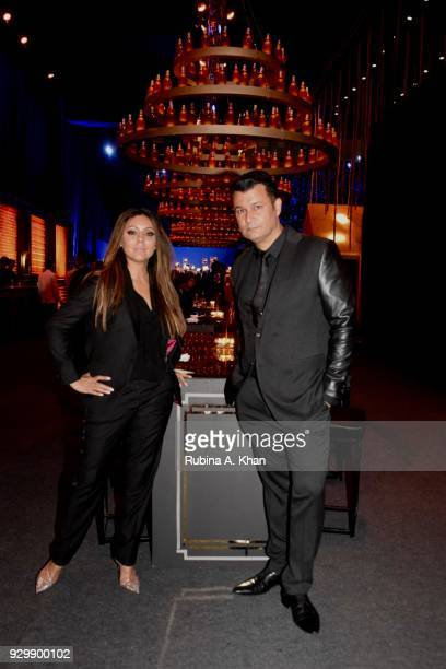 Designers Gauri Khan and Ashish N Soni attend the second edition of Chivas Alchemy at The Lodhi Hotel on March 9 2018 in New Delhi India