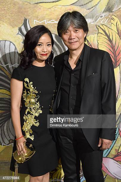 Designers Guo Pei and Jack Tsao attend the MAC x Guo Pei dinner on May 5 2015 in New York City