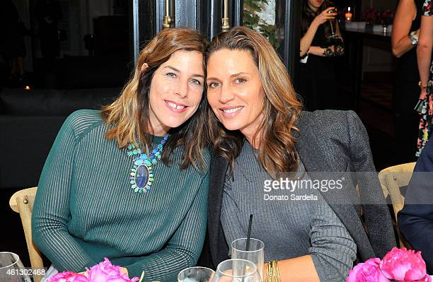 Designers Irene Neuwirth and Kendall Conrad attend Lynn Hirschberg Celebrates W's It Girls with Piaget and Dom Perignon at AOC on January 10 2015 in...