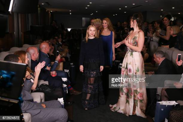 Designers Iryna Ivanova and Sonjja Baram attend the St Sava Fundraising Fashion Show at Domenico Vacca Club New York on April 24 2017 in New York City