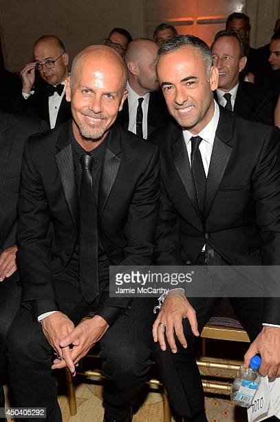 Designers Italo Zucchelli and Francisco Costa attend the amfAR Inspiration Gala New York 2014 at The Plaza Hotel on June 10, 2014 in New York City.