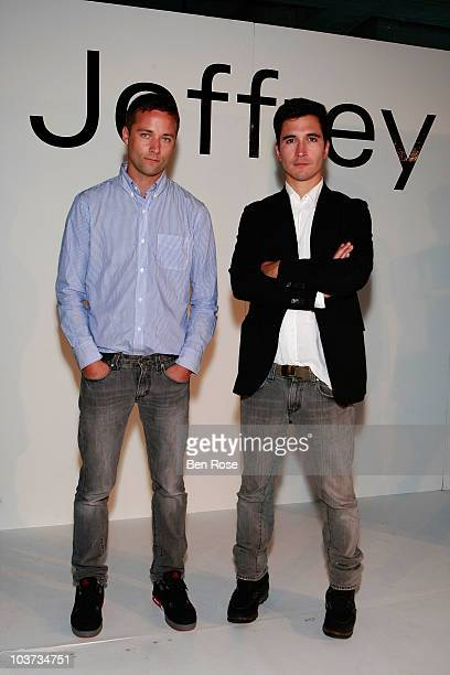 Designers Jack McCollough and Lazaro Hernandez of Proenza Schouler attend the 18th Annual Jeffrey Fashion Cares at 12th Midtown on August 30 2010 in...
