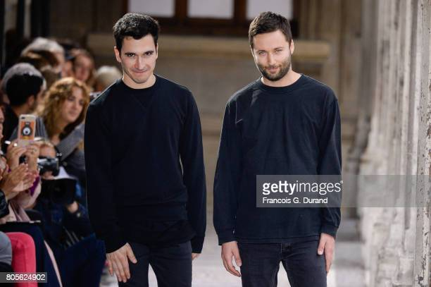 Designers Jack McCollough Lazaro Hernandez walk the runway during the Proenza Schouler Haute Couture Fall/Winter 20172018 show as part of Haute...