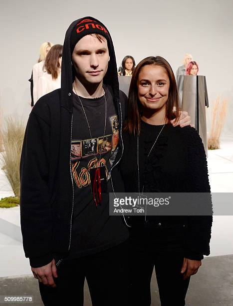 Designers Jacob Park and Anne Deane are seen during Ohlin/D Fall 2016 New York Fashion Week: The Shows at Pier 59 Studios on February 13, 2016 in New...