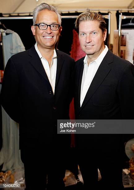 Designers James Mischka and Mark Badgley attend the Badgley Mischka Spring 2011 fashion show during Mercedes-Benz Fasnion Week at The Theater at...