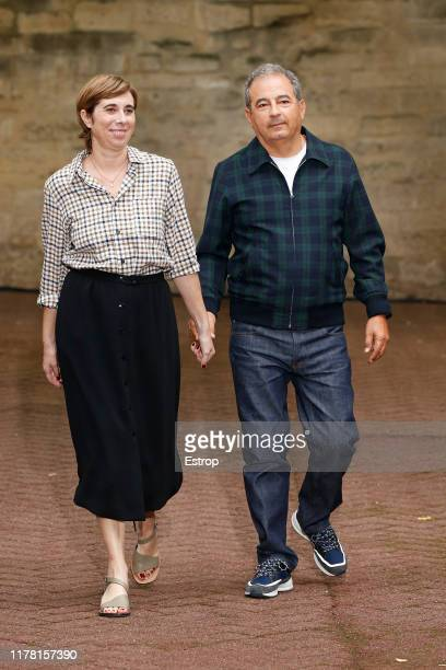 Designers Jean Touitou & Judith Touitou during the A.P.C Womenswear Spring/Summer 2020 show as part of Paris Fashion Week on September 30, 2019 in...