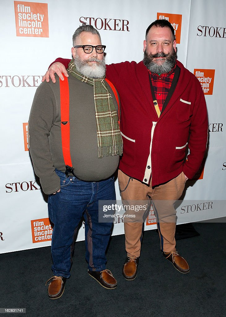 Designers Jeffrey Costello and Robert Tagliapietra attend the 'Stoker' New York Screening at The Film Society of Lincoln Center, Walter Reade Theatre on February 27, 2013 in New York City.