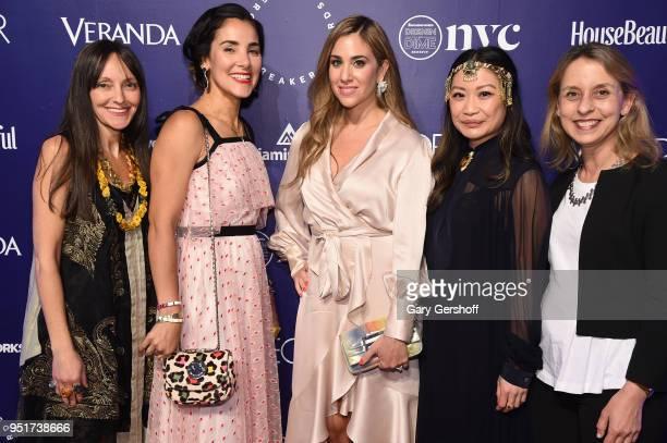 Designers Jenny Dina Kirschner Kirsten Yadouga Natalie Kraiem Peti Lau and Nicola Rosendorff attend Housing Works' Design on a Dime at Metropolitan...