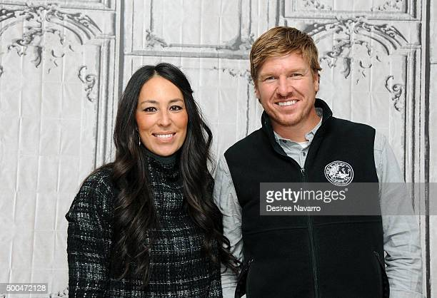 Designers Joanna Gaines and Chip Gaines attend AOL Build Presents Fixer Upper at AOL Studios In New York on December 8 2015 in New York City