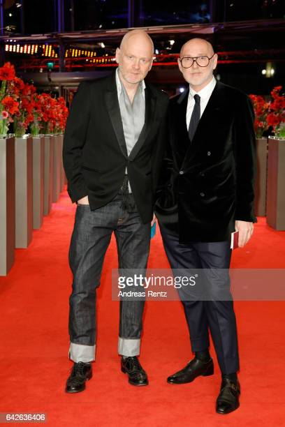 Designers Joerg Ehrlich and Otto Droegsler arrives for the closing ceremony of the 67th Berlinale International Film Festival Berlin at Berlinale...