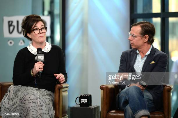 Designers Kate Spade and Andy Spade attend AOL Build Series to discuss their latest project Frances Valentine at Build Studio on April 28 2017 in New...