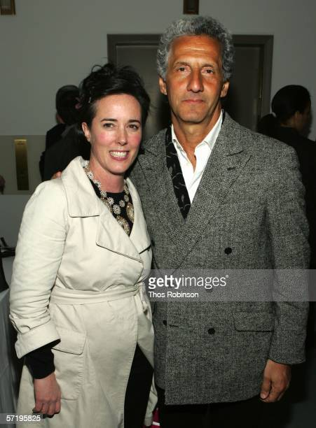 Designers Kate Spade and Joseph Abboud attend the 2006 CFDA Fashion Awards Nominations at Rooftop Gardens, Rockefeller Center on March 27, 2006 in...
