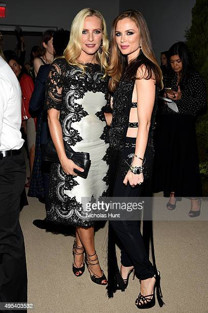 Designers Keren Craig and Georgina Chapman of Marchesa attend the 12th annual CFDA/Vogue Fashion Fund Awards at Spring Studios on November 2 2015 in...