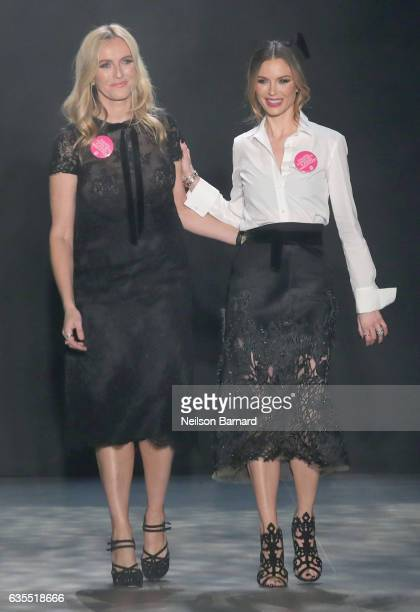 Designers Keren Craig and Georgina Chapman walk the runway for the Marchesa collection during New York Fashion Week The Shows at Gallery 2 Skylight...