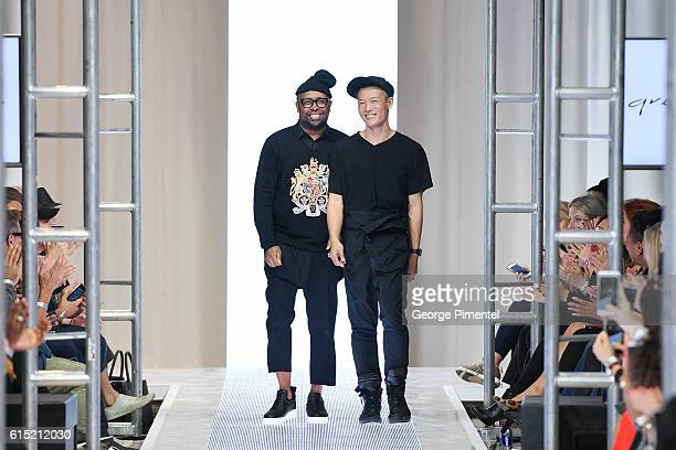 Designers Kirk Pickersgill and Stephen Wong present Greta Constantine Spring and Summer 2017 collection during FashionCAN at Yorkdale Shopping Centre...
